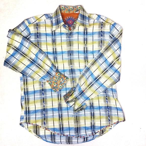 Robert Graham Shirts Designer Button Down Shirt Medium Poshmark